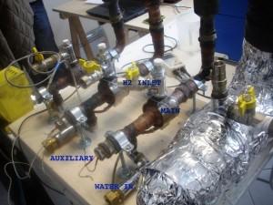 Foto van de reactor