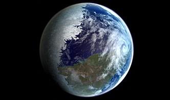 De makers van de documentaire Aurelia bedachten deze tidally locked planeet, waarvan maar de helft bewoonbaar is.