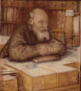 Boris Pasternak schilderde dit portret van Nikolai Fyodorov, de grondlegger van het kosmisme.