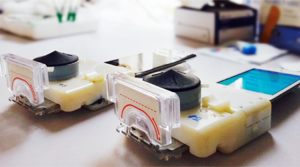 Een compleet lab, verkleind tot een vingerhoed. Bron: Columbia University