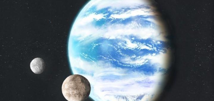 Artist impression van een oceaanplaneet door Luciano Mendez. Bron. Wikimedia Commons