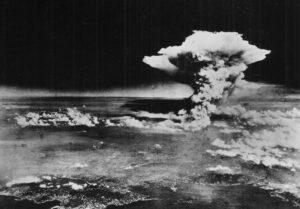 HIstorische foto van de atoomexplosie boven Hiroshima. Bron: USAF