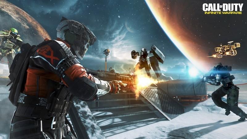 Deze actiescene uit het computerspel Call of Duty: Infinite Warfare zou wel eens realiteit kunnen worden.