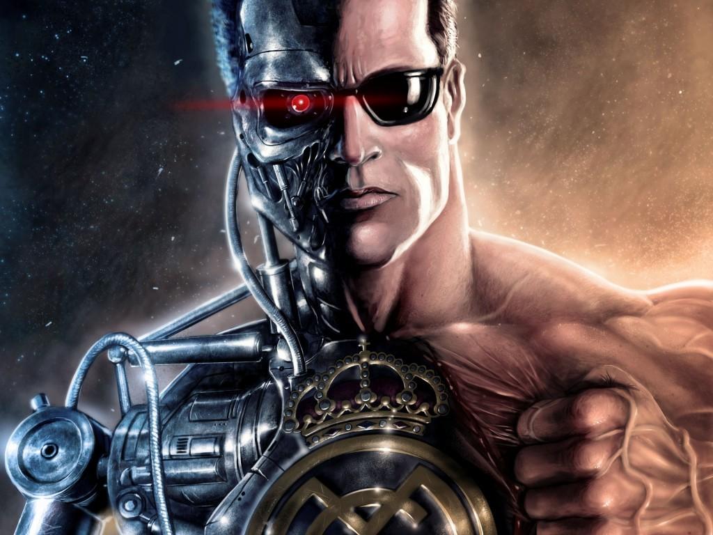 Een cyborg speelt de rol van de slechterik in de Terminator films.