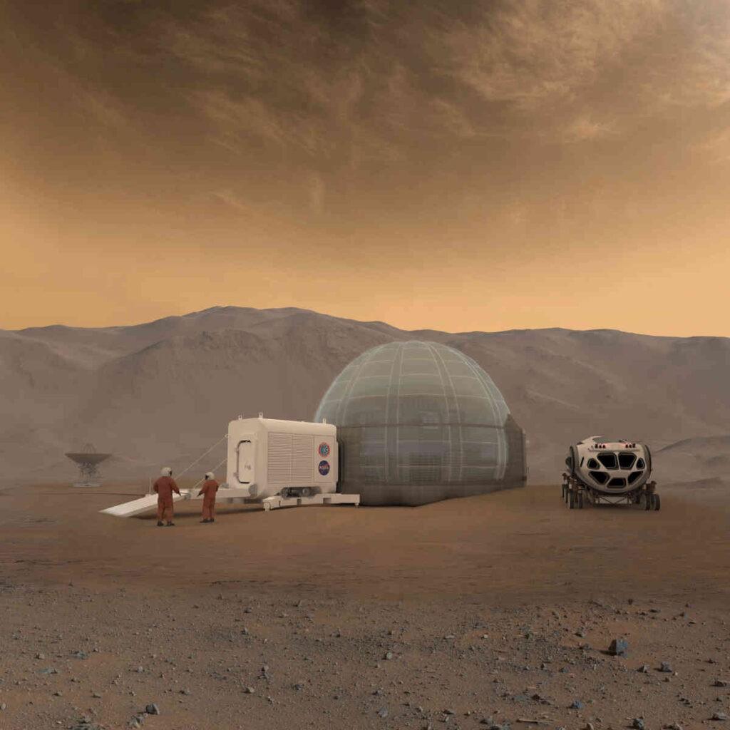 Het koloniseren van Mars is relatief het minst moeilijk. Alleen Mercurius komt in de buurt. Copyright: Bryan Versteeg / Spacehabs.com