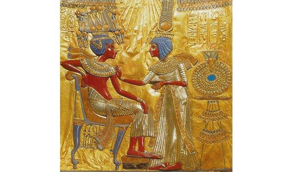 De bekende farao Tutanchamon was getrouwd met zijn zuster, koningin Ankhesenamun. Copyright: Koninklijk Huis Kemet