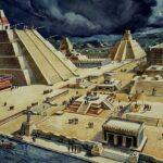 Tenochtitlán (het huidige Mexico Stad),voordat de vandalistische conquistador Córtez zijn massamoord begon.