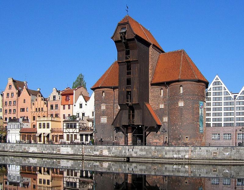 Hijskraan uit de Middeleeuwen, gefotografeerd in het Poolse Gdansk. -Wikimedia Commons