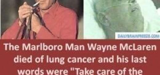 """""""Marlboro Man"""" Wayne McLaren betaalde met zijn leven voor zijn rol als rook-icoon. Na de diagnose werd hij een fel tegenstander van roken."""