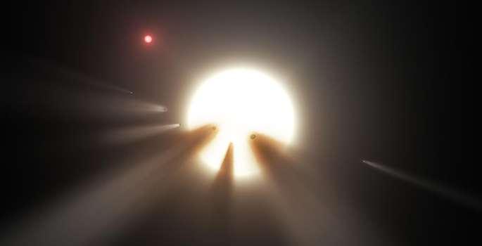 Kometen zouden de mysterieuze bedekkingen van Tabby's Ster kunnen verklaren, maar ook deze verklaring is gebrekkig. Bron: NASA