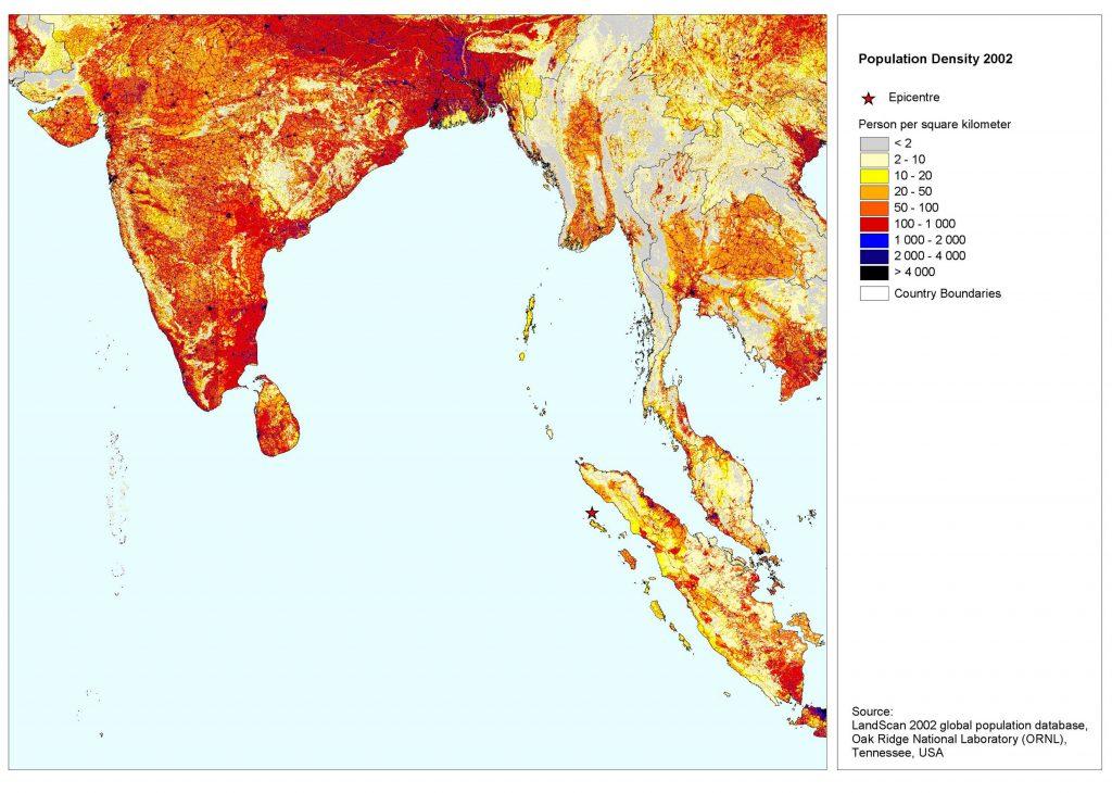 Het Rohingya probleem in een notendop. Vergelijk het uitpuilende Bengalen met het dunbevolkte Myanmar. Bron: FAO