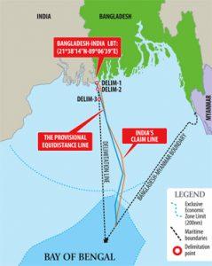Het continentaal plat van Bangladesh verdubbelt de oppervlakte van het land. Bron: 3.