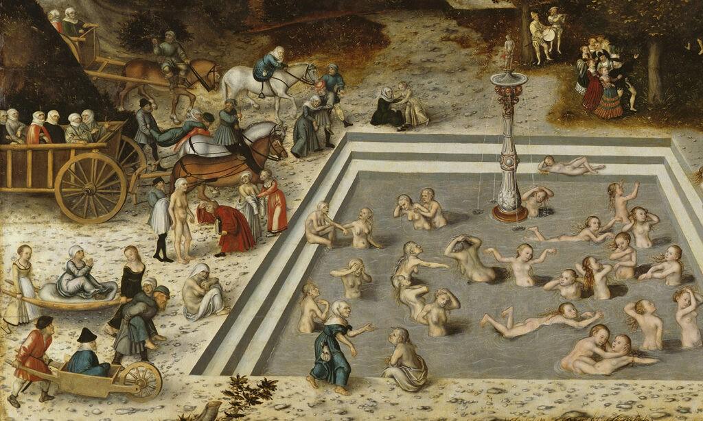 Vormen anti-verouderingsmedicijnen een bron van de eeuwige jeugd? Lucas Cranach, der Jungbronnen. Bron: Wikipedia Commons/Lucas Cranach