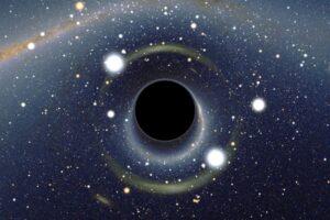 Kleine zwarte gaten, bijvoorbeeld met de massa van Neptunus, zijn zo groot als een voetbal en daarmee onzichtbaar van grote afstand.