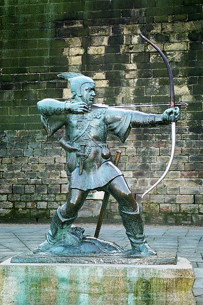 Robin Hood, niet voor niets na eeuwen nog steeds een populaire legende. Bron: Wikimedia Commons/gebruiker Olaf1541 (waarschijnlijk)