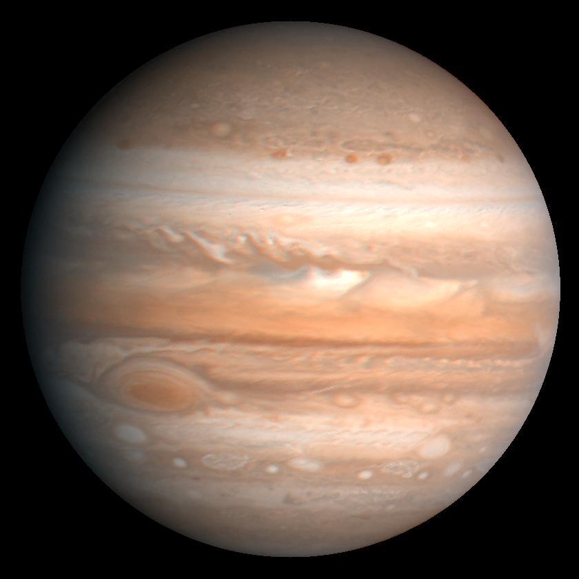 De grootste planeet in ons zonnestelsel heeft miljarden jaren geleden al een superaarde opgeslokt. Bron: Wikimedia Commons/NASA