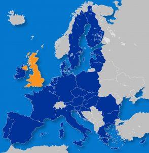 Na de Brexit wordt Ierland geografisch min of meer gegijzeld door de Britten. Copyright: Visionair.nl