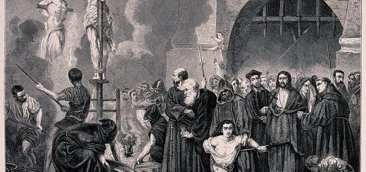 Inquisiteurs bezig met de bestrijding van nepnieuws. Bron: Wellcome Trust