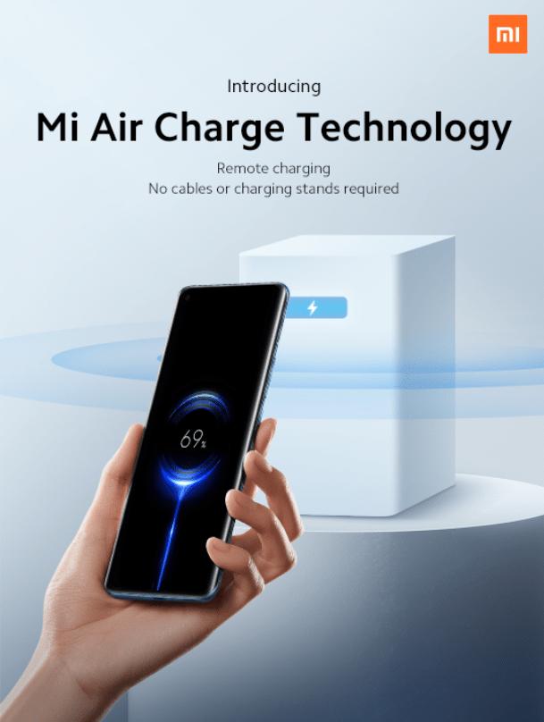 Draadloos opladen met de Mi Air Charge technologie van Xiaomi lijkt de eerste grootschalige toepassing te worden van remote charging. Bron: Xiaomi