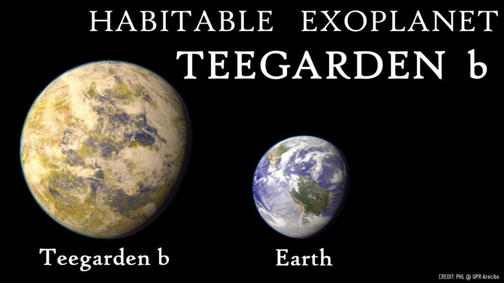 Het koloniseren van exoplaneet Teegarden b is in theorie goed te doen. De planeet ligt in de bewoonbare zone van Teegarden en is minimaal zo groot als de aarde. Vermoedelijk groter. Bron: phl@UPR Arecibo