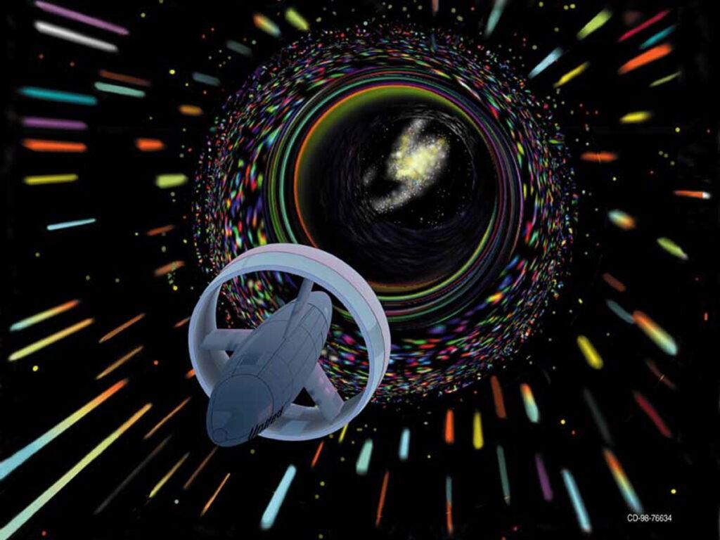 Een warp drive, volgens Les Bossinas, NASA. Public domain