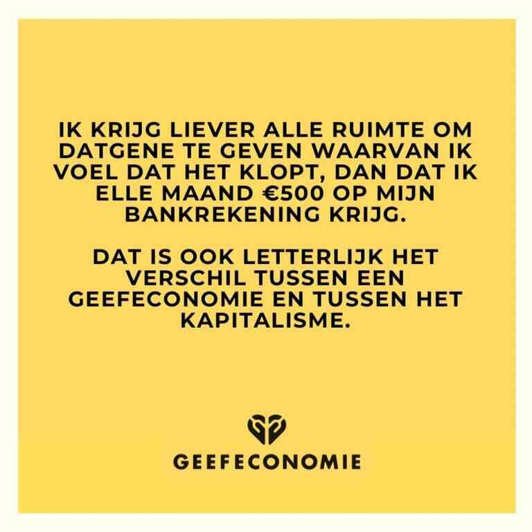 De geefeconomie, een goed alternatief voor het kapitalisme en andere ruileconomieën? Bron: geefeconomie.nl